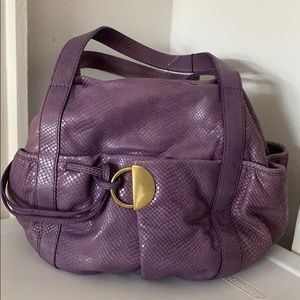 Kooba purple snakeskin bag *NEVER USED*